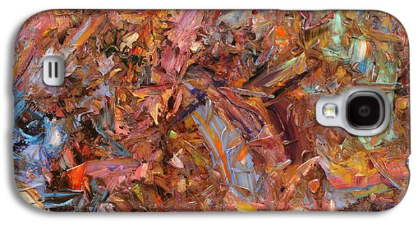 Colorful Abstract Galaxy S4 Cases - Paint number 43b Galaxy S4 Case by James W Johnson