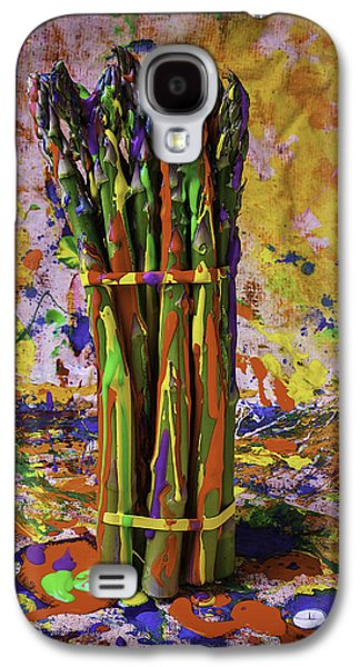 Mess Photographs Galaxy S4 Cases - Painted Asparagus Galaxy S4 Case by Garry Gay