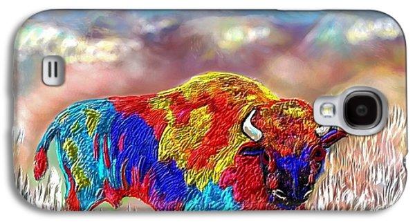 Bison Digital Galaxy S4 Cases - Painted Buffalo Galaxy S4 Case by Kari Jones