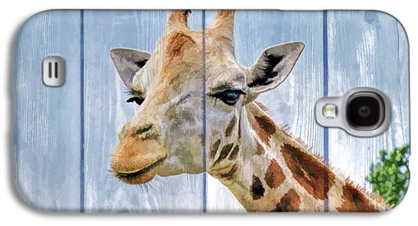 Business Galaxy S4 Cases - Painted Giraffe for kids room Galaxy S4 Case by Geraldine Scull