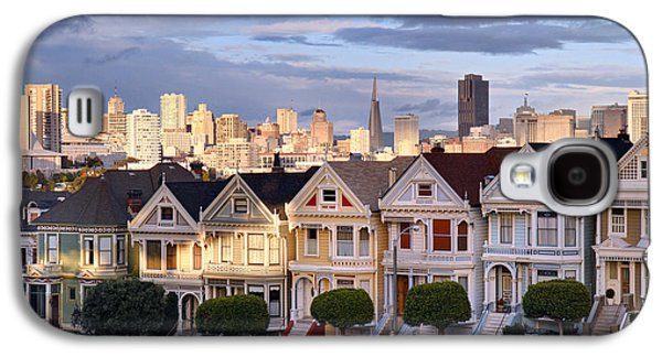 Sunset Galaxy S4 Cases - Painted Ladies in SF California Galaxy S4 Case by Pierre Leclerc Photography
