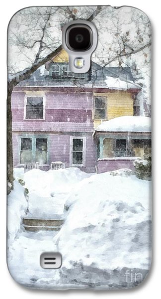 Victorian Photographs Galaxy S4 Cases - Painted Lady Snowstorm Galaxy S4 Case by Edward Fielding