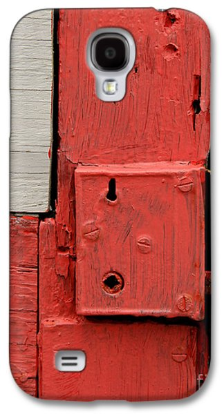 Painted Details Galaxy S4 Cases - Painted Lock Galaxy S4 Case by Perry Webster