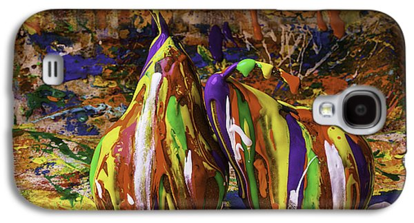 Mess Photographs Galaxy S4 Cases - Painted Pears Galaxy S4 Case by Garry Gay