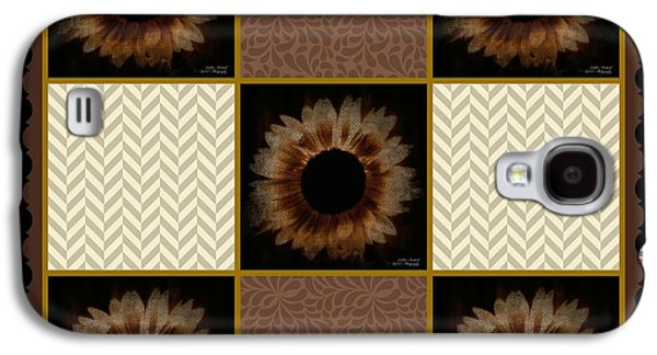 Business Galaxy S4 Cases - Painted Sunflower Quilt Series Galaxy S4 Case by Bobbee Rickard