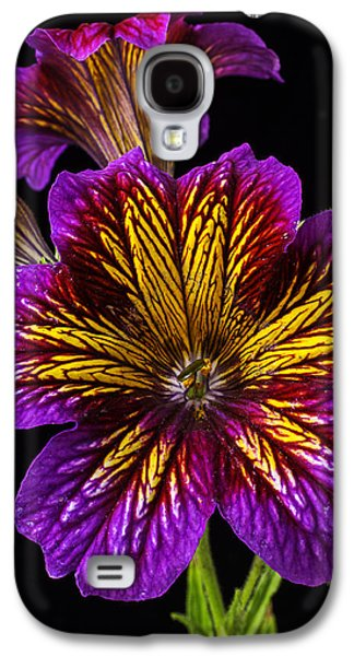 Painted Details Galaxy S4 Cases - Painted Tongue Royale Purple Bicolor Galaxy S4 Case by Garry Gay