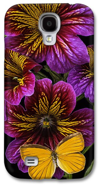 Painted Details Galaxy S4 Cases - Painted Tongue With Orange Butterfly Galaxy S4 Case by Garry Gay