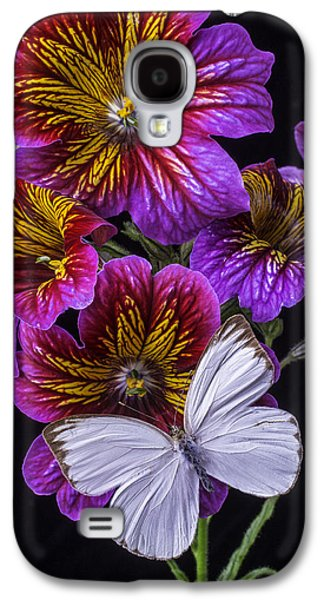 Painted Details Galaxy S4 Cases - Painted Tongue With White Butterfly Galaxy S4 Case by Garry Gay