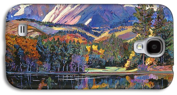 Snow Capped Galaxy S4 Cases - Painters Lake Galaxy S4 Case by David Lloyd Glover