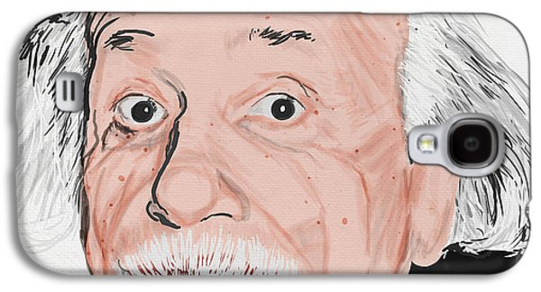 Theory Galaxy S4 Cases - Painting Of Albert Einstein Galaxy S4 Case by Setsiri Silapasuwanchai