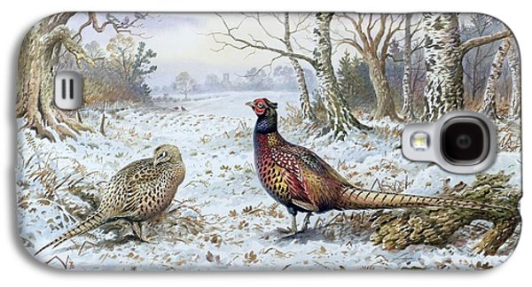 Pair Of Pheasants With A Wren Galaxy S4 Case by Carl Donner