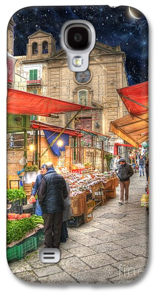 Facade Galaxy S4 Cases - Palermo Market Place Galaxy S4 Case by Juli Scalzi