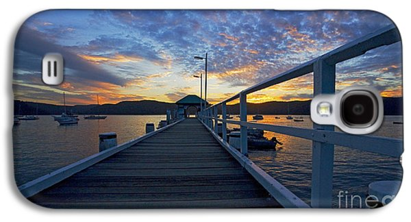 Sunset Galaxy S4 Cases - Palm Beach wharf at dusk Galaxy S4 Case by Sheila Smart