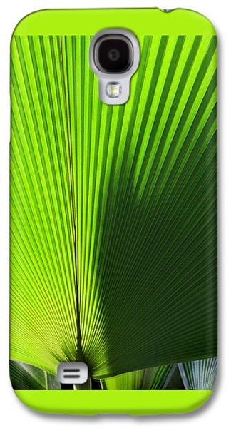 Nature Abstracts Galaxy S4 Cases - Palm Fronds Square Galaxy S4 Case by Karen Adams