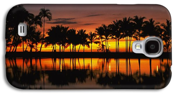 Landscapes Photographs Galaxy S4 Cases - Palm Trees And Sunset Landscape Galaxy S4 Case by Gillham Studios
