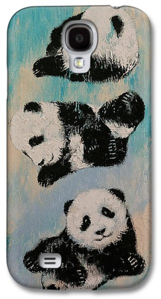 Party Birthday Party Galaxy S4 Cases - Panda Karate Galaxy S4 Case by Michael Creese