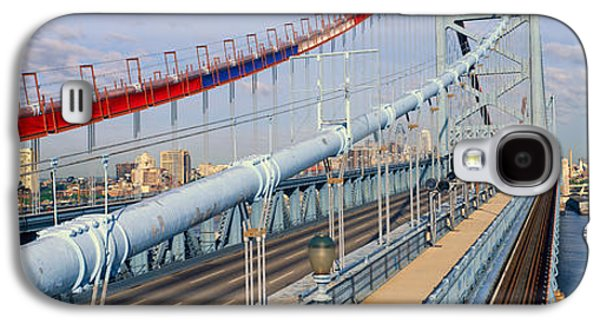 Panoramic View Of Ben Franklin Bridge Galaxy S4 Case by Panoramic Images
