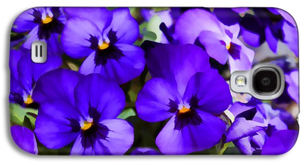 Nature Abstracts Galaxy S4 Cases - Pansy Fantasy Galaxy S4 Case by Janice Rae Pariza