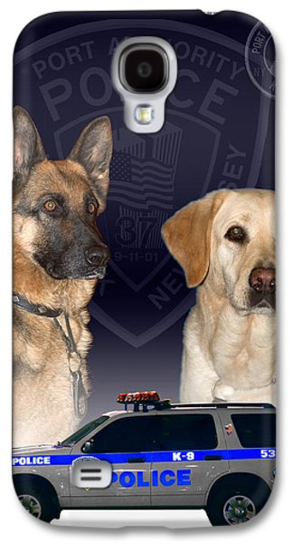 Dogs Digital Galaxy S4 Cases - Papd K-9 Galaxy S4 Case by Joseph Pellicone