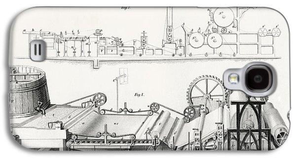 Paper Making Machine, 19th Century Galaxy S4 Case by Vintage Design Pics