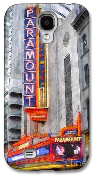 Paramount Theater Boston Ma Galaxy S4 Case by Edward Fielding