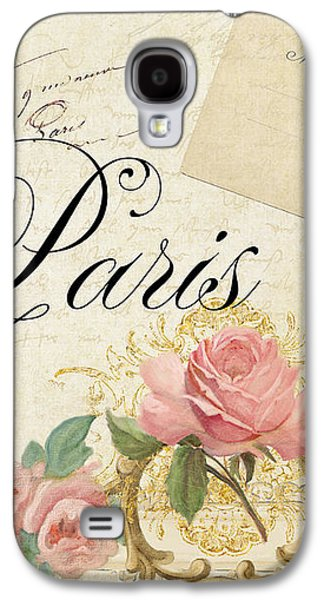 Timeless Galaxy S4 Cases - Parchment Paris - Timeless Romance Galaxy S4 Case by Audrey Jeanne Roberts