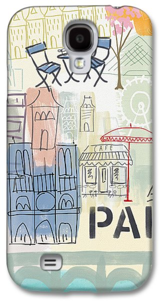 Paris Cityscape- Art By Linda Woods Galaxy S4 Case by Linda Woods