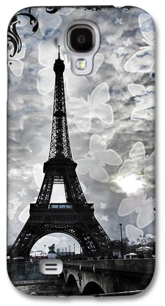 Grey Clouds Galaxy S4 Cases - Paris Galaxy S4 Case by Marianna Mills