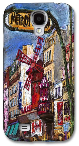 Pastels Galaxy S4 Cases - Paris Mulen Rouge Galaxy S4 Case by Yuriy  Shevchuk