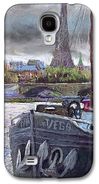 Impressionism Pastels Galaxy S4 Cases - Paris Pont Alexandre III Galaxy S4 Case by Yuriy  Shevchuk