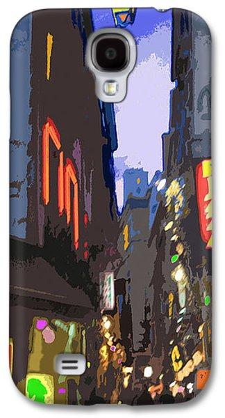 Abstract Digital Galaxy S4 Cases - Paris Quartier Latin 01  Galaxy S4 Case by Yuriy  Shevchuk