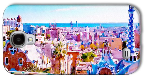 Park Guell Watercolor Painting Galaxy S4 Case by Marian Voicu