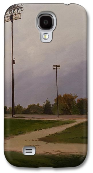 Baseball Stadiums Paintings Galaxy S4 Cases - Park LIghts Galaxy S4 Case by Lydia Martin