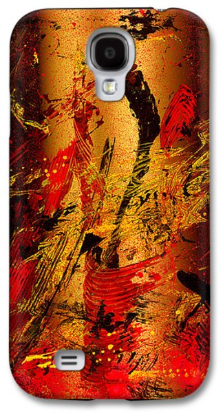 Swiss Mixed Media Galaxy S4 Cases - Party At The Hockey Match   Galaxy S4 Case by Manuel Sueess