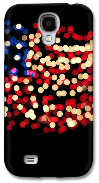 4th July Galaxy S4 Cases - Party Lights In The Shape Galaxy S4 Case by Gillham Studios