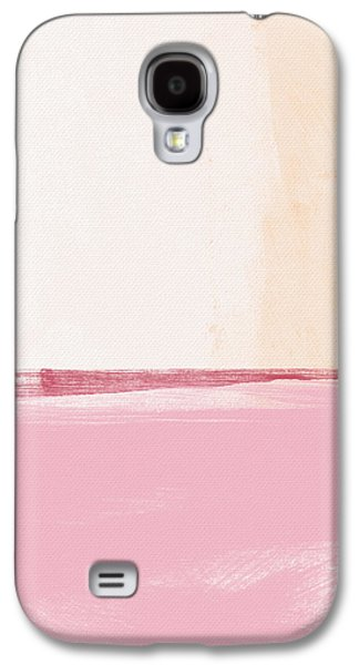 """""""abstract Landscape"""" Galaxy S4 Cases - Pastel Landscape Galaxy S4 Case by Linda Woods"""