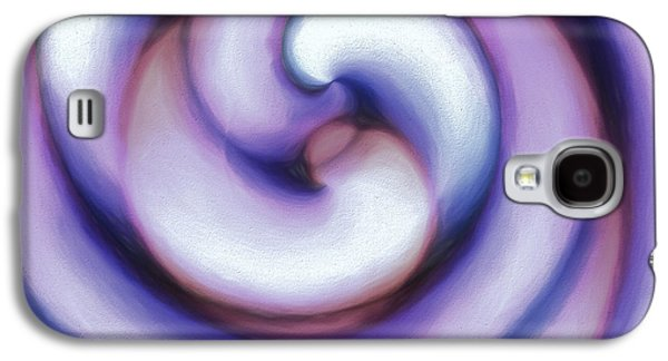 Spiral Pastels Galaxy S4 Cases - Pastel Sea Shell 2 Galaxy S4 Case by Todd and candice Dailey