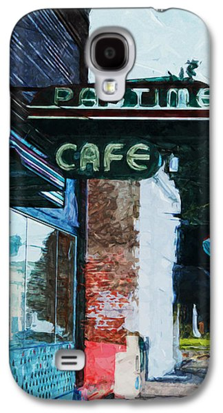 Pastime Cafe- Art By Linda Woods Galaxy S4 Case by Linda Woods