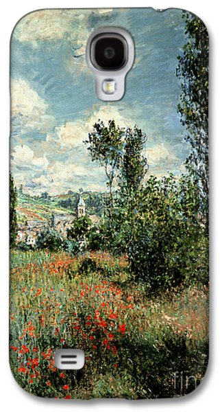 Path Through The Poppies Galaxy S4 Case by Claude Monet