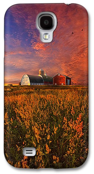 Red Barns Galaxy S4 Cases - Patience Galaxy S4 Case by Phil Koch