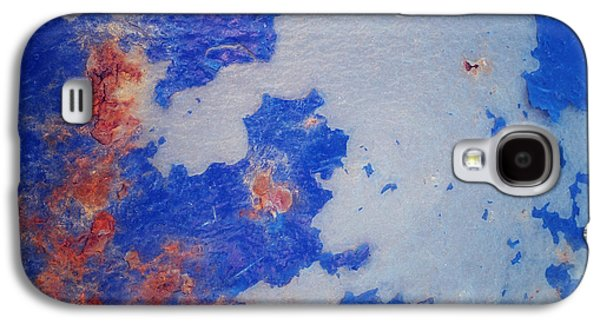 Blue Abstracts Photographs Galaxy S4 Cases - Patina 6 Galaxy S4 Case by Priska Wettstein