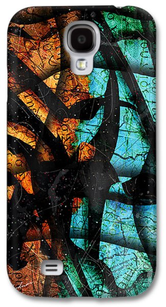 Blue Abstracts Digital Art Galaxy S4 Cases - Patmos Galaxy S4 Case by Gary Bodnar