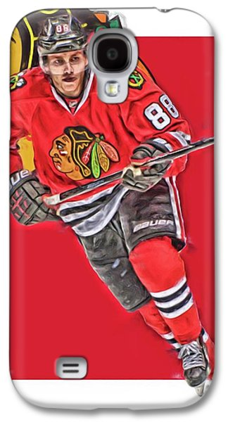 Patrick Kane Chicago Blackhawks Oil Art Series 3 Galaxy S4 Case by Joe Hamilton