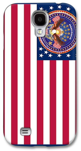 4th July Mixed Media Galaxy S4 Cases - Patriotic America Print and Case Only Galaxy S4 Case by Bill Campitelle