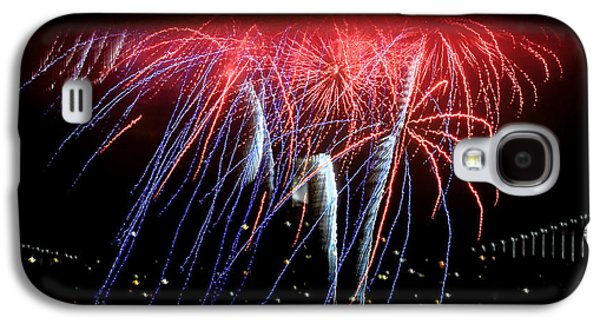 4th July Galaxy S4 Cases - Patriotic Fireworks S F Bay Galaxy S4 Case by Brian Tada