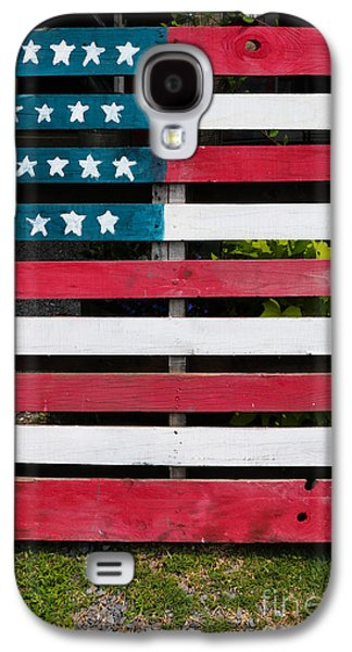 Landmarks Photographs Galaxy S4 Cases - Patriotic Pallets Galaxy S4 Case by Thomas Marchessault