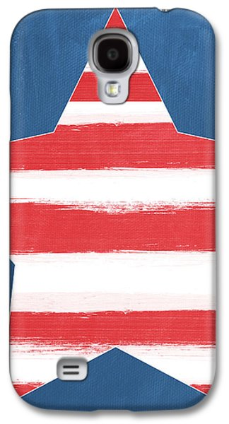 4th July Galaxy S4 Cases - Patriotic Star Galaxy S4 Case by Linda Woods