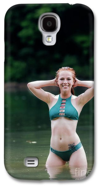 Patty Standing In The Water Smiling Galaxy S4 Case by Dan Friend