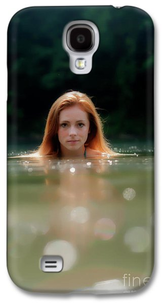 Patty Swimming With Head Out Of Water Galaxy S4 Case by Dan Friend