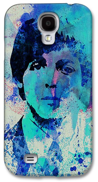 Watercolor Paintings Galaxy S4 Cases - Paul McCartney Galaxy S4 Case by Naxart Studio